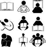 Reading Icons Stock Images