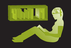 Reading , Imagination Stock Photography