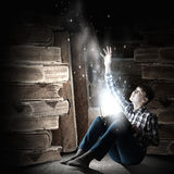 Reading and imagination Stock Photography