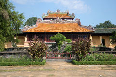 The reading of the Imperial pavilion Thai Binh in forbidden Purple city. Hue, Vietnam Stock Image