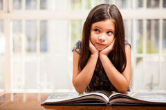 Reading improves imagination Stock Photo