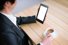 Reading information with tablet PC Royalty Free Stock Images