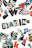 Reading inscription Royalty Free Stock Images