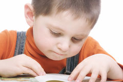 Reading kid Royalty Free Stock Photos
