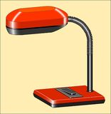 READING-LAMP. Electric lamp for illumination of tablen Royalty Free Stock Images