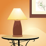Reading lamp. Fragment of interior Royalty Free Stock Photo