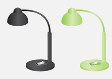 Reading lamps black and green color vector design Stock Image