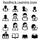 Reading , Learning , Study icons Royalty Free Stock Image