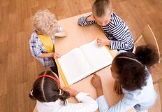 Reading lesson Royalty Free Stock Photo