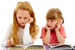 Reading lesson Stock Photo