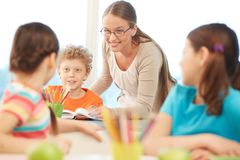 At reading lesson Stock Image