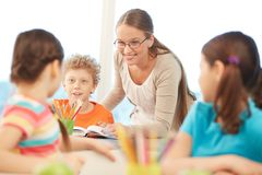 At reading lesson Stock Photo
