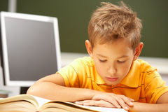 Reading lesson Royalty Free Stock Image