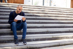 Reading a letter Stock Photos
