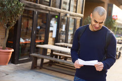 Reading a letter Royalty Free Stock Image