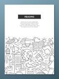 Reading - line design brochure poster template A4 Stock Photos