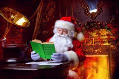 Reading lists of presents Royalty Free Stock Images