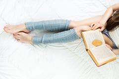 Reading lover girl Stock Photos