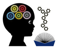 Reading makes Kids smarter. Books help to develop the brain in early childhood education Stock Photos