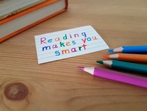 Reading Makes You Smart stock photo