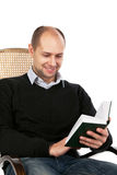 Reading man Stock Photo