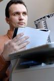 Reading man Royalty Free Stock Image