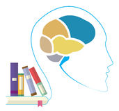 Reading man, Creative brain Idea concept. Royalty Free Stock Image