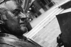 Reading Man - Public Statue Stock Photography