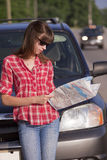 Reading a map Stock Images