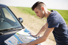 Reading the Map - Stock Image Stock Images