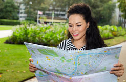 Reading map Royalty Free Stock Photos