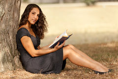 Reading in nature Royalty Free Stock Photo