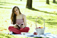 Reading in nature is my hobby Stock Photos