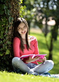 Reading in nature is my hobby Royalty Free Stock Photos