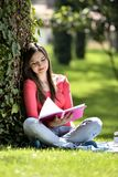 Reading in nature is my hobby Stock Images