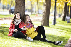 Reading in nature is my hobby Royalty Free Stock Photography