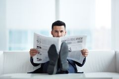 Reading news Royalty Free Stock Image