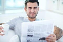 Reading news Royalty Free Stock Photo