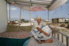 Reading the newspaper Anatolian man Royalty Free Stock Image