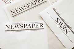 Reading newspaper on background. Reading newspaper on the background royalty free stock image