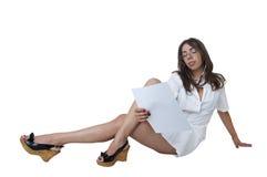 Reading nurse Stock Photo