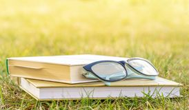 Reading in the open air. Outdoor recreation reading a book. royalty free stock photo