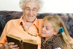 Reading out a story Royalty Free Stock Image