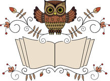 Reading Owl Royalty Free Stock Photo