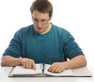 Reading paperwork Royalty Free Stock Photo
