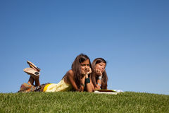 Reading at the park Royalty Free Stock Photo