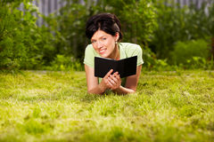 Reading in the park Stock Photo