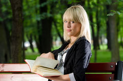 Reading in park Royalty Free Stock Image