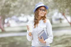 Reading in the park. Royalty Free Stock Photo