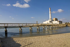 Reading Power Station. The Reading Power Station is a power station supplying electrical power to the Tel Aviv District in central Israel Royalty Free Stock Image